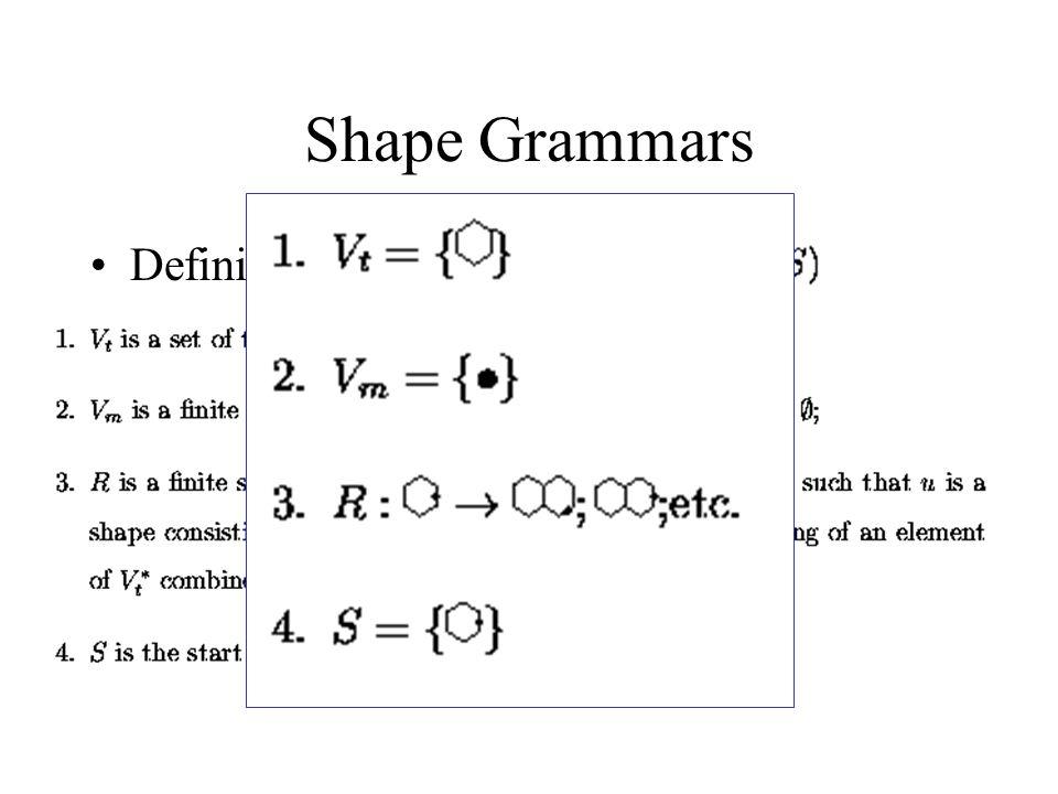Análise de Textura Estrutural Shape Grammars Tree Grammars Array Grammars