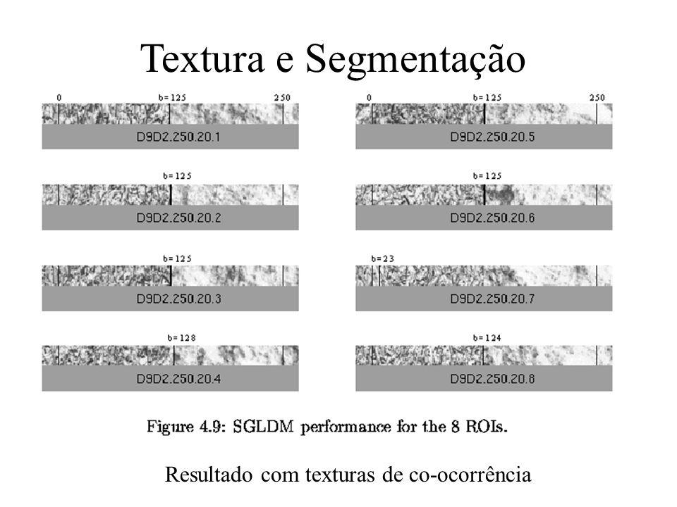 Textura e Segmentação Computar texturas usando máscaras de 16x20.
