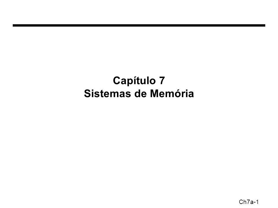 Ch7a-1 Capítulo 7 Sistemas de Memória