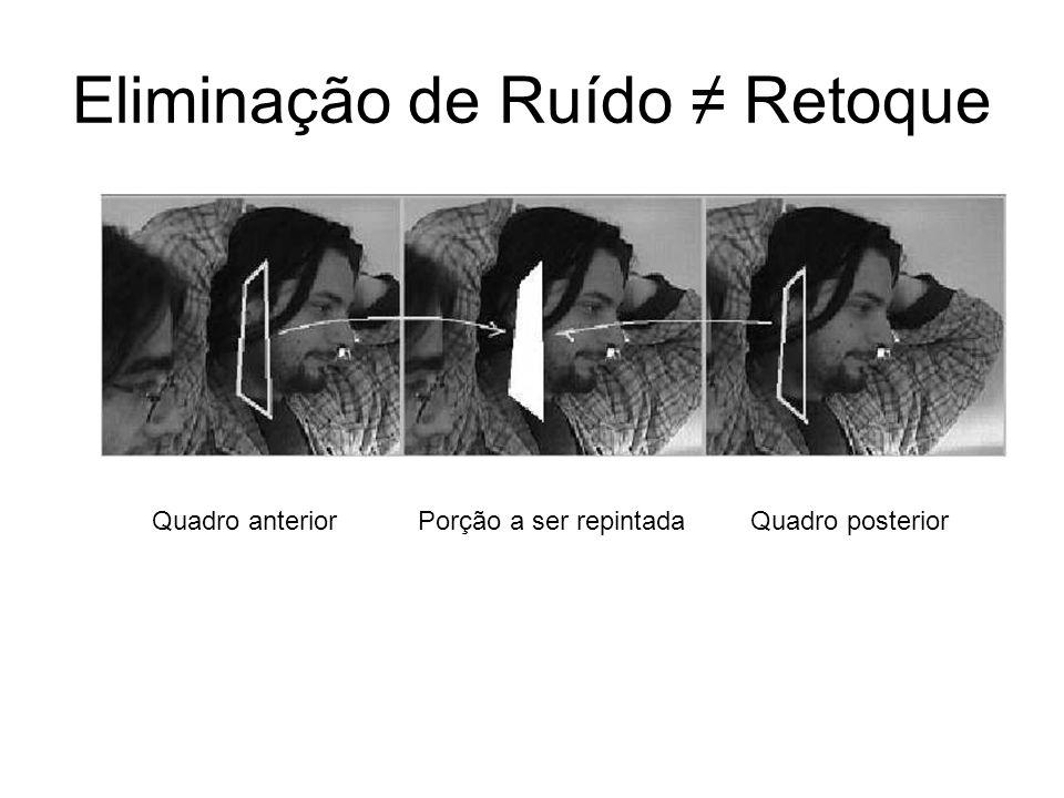 Eliminação de Ruído Retoque Porção a ser repintadaQuadro anteriorQuadro posterior