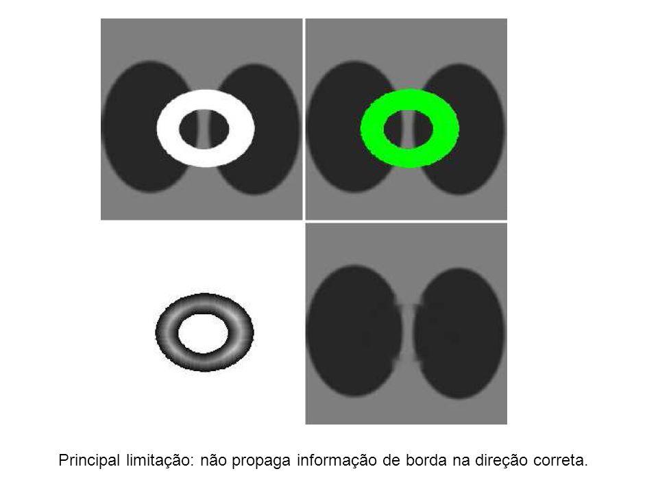Principal limitação: não propaga informação de borda na direção correta.