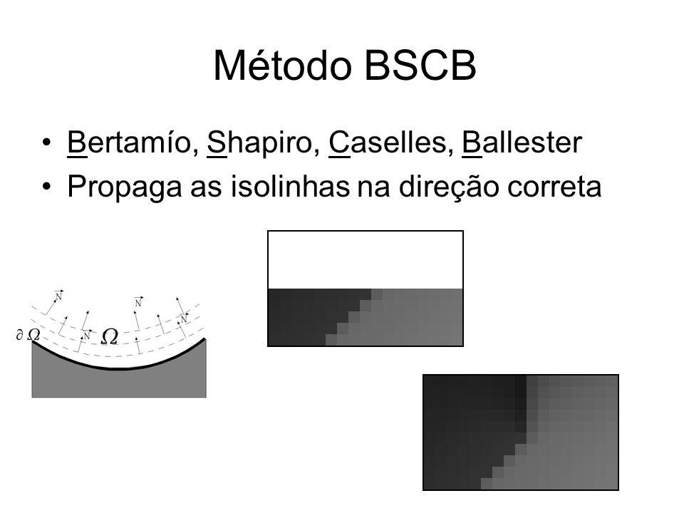 Método BSCB Bertamío, Shapiro, Caselles, Ballester Propaga as isolinhas na direção correta