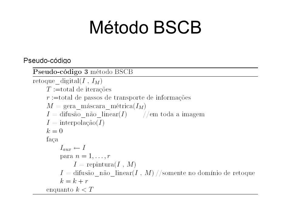 Método BSCB Pseudo-código