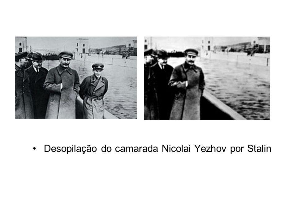 Desopilação do camarada Nicolai Yezhov por Stalin