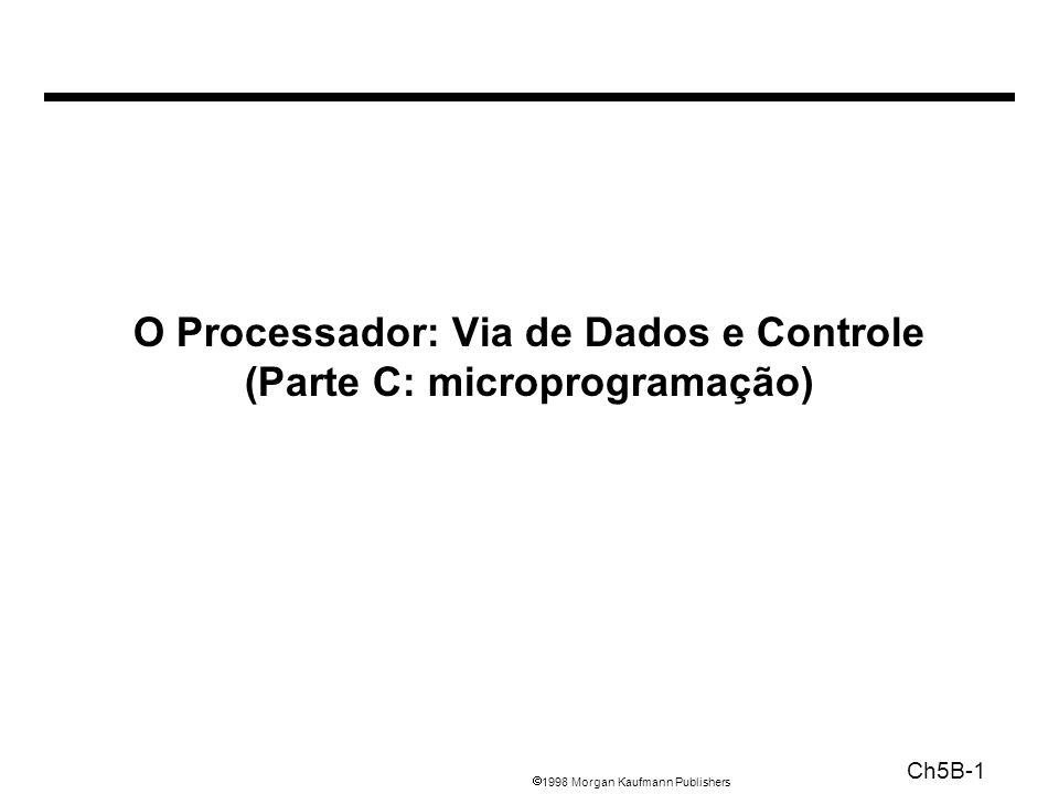 1998 Morgan Kaufmann Publishers Ch5B-1 O Processador: Via de Dados e Controle (Parte C: microprogramação)