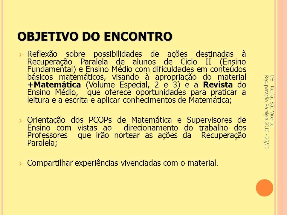 DE - Região São Vicente Recuperação Paralela 2010 - 25/02