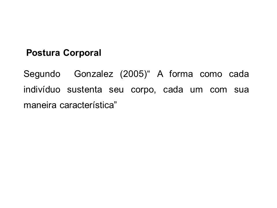 Segundo Gonzalez (2005) A forma como cada indivíduo sustenta seu corpo, cada um com sua maneira característica