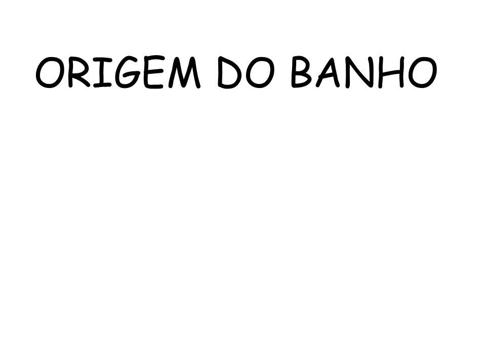 O BANHO RITUAL DATA DO PERIODO DOS ANTIGOS EGIPICIOS.