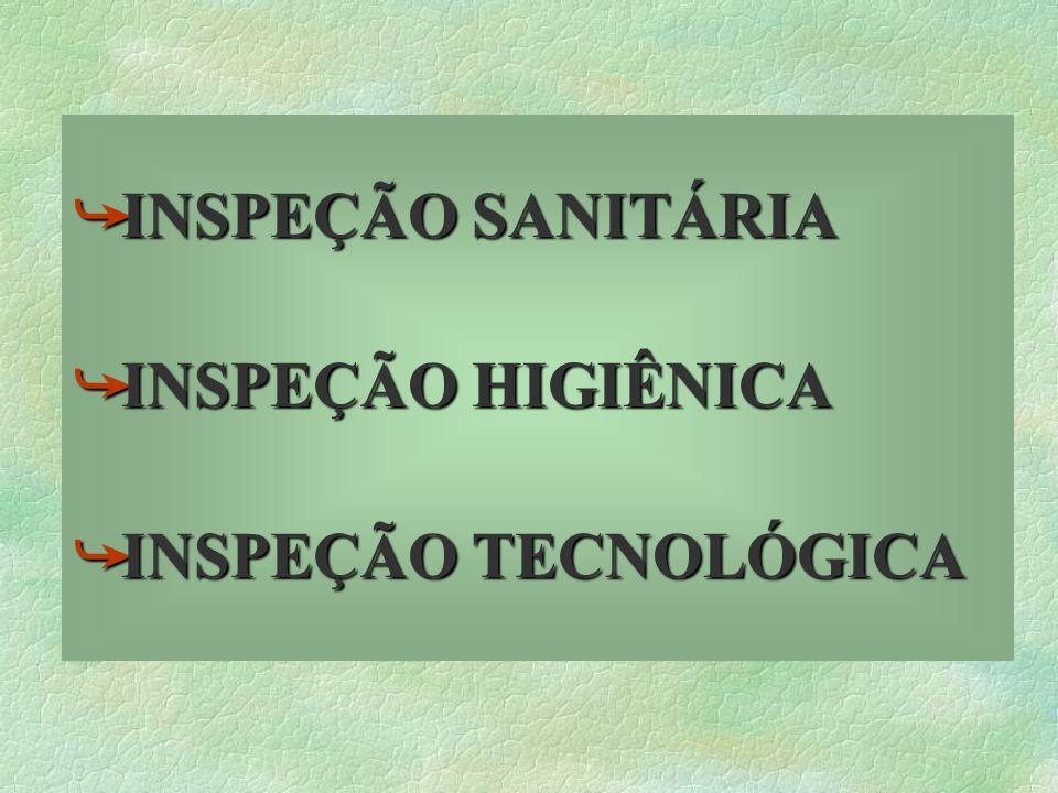 åINSPEÇÃO åINSPEÇÃO SANITÁRIA HIGIÊNICA TECNOLÓGICA