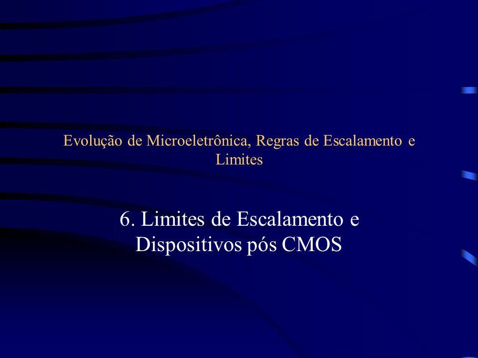Evolução de Microeletrônica, Regras de Escalamento e Limites 6. Limites de Escalamento e Dispositivos pós CMOS