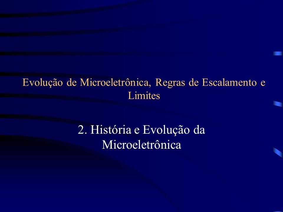Evolução de Microeletrônica, Regras de Escalamento e Limites 2. História e Evolução da Microeletrônica