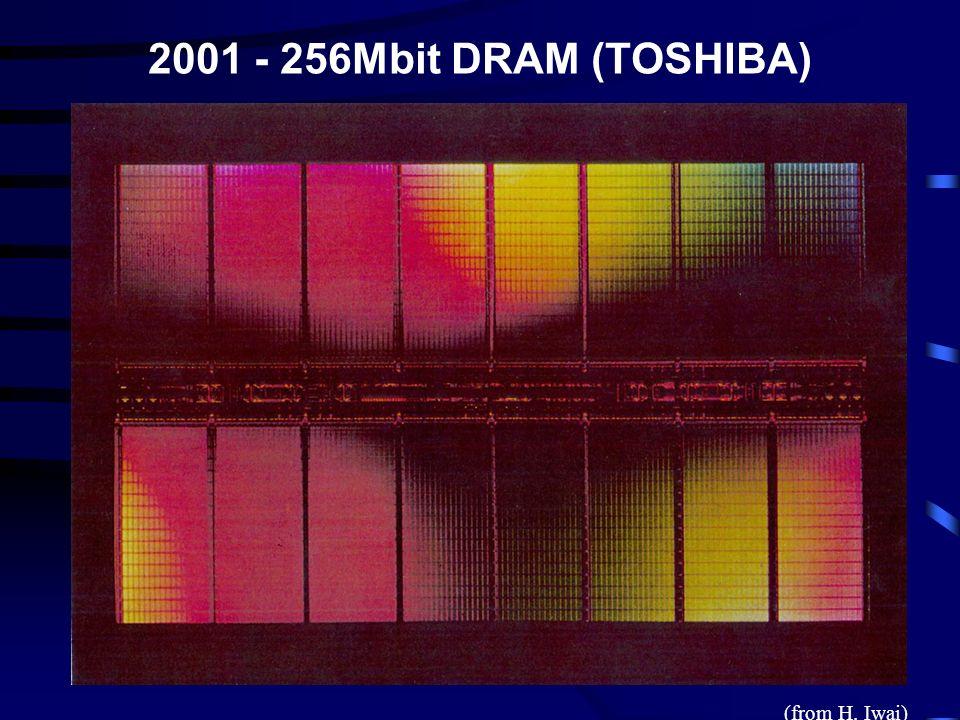 2001 - 256Mbit DRAM (TOSHIBA) (from H. Iwai)