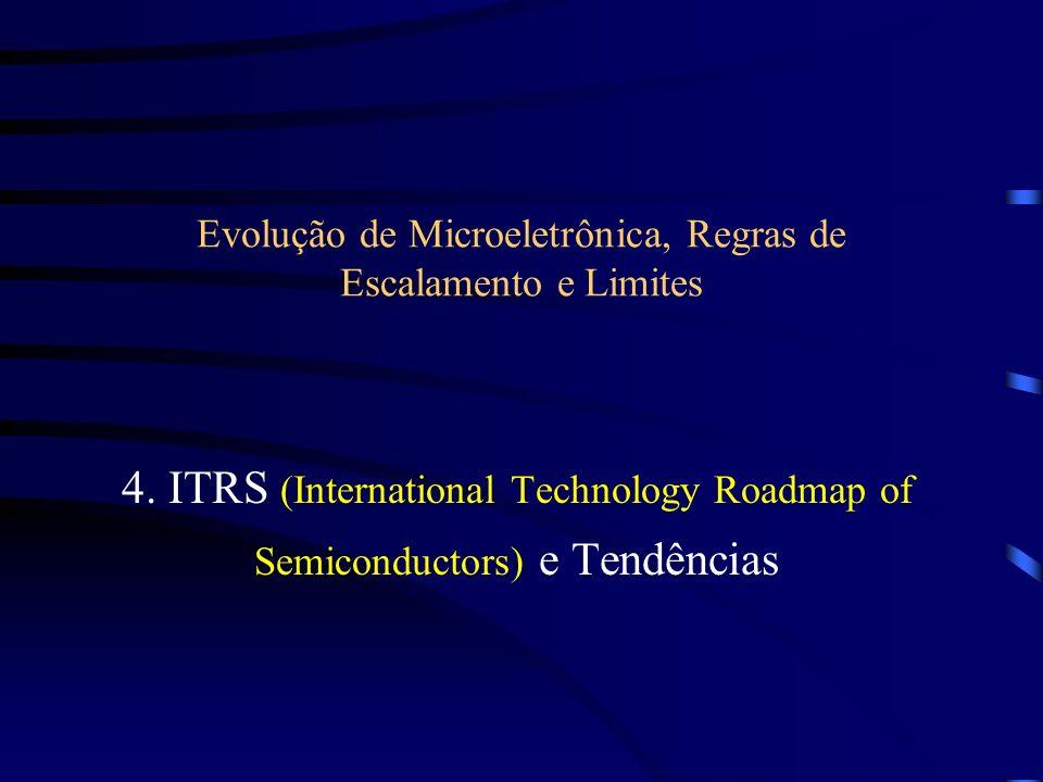 Evolução de Microeletrônica, Regras de Escalamento e Limites 4. ITRS (International Technology Roadmap of Semiconductors) e Tendências