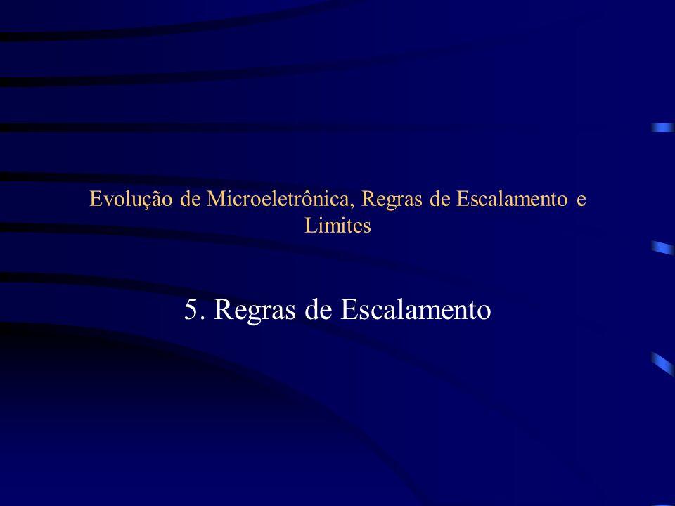 Evolução de Microeletrônica, Regras de Escalamento e Limites 5. Regras de Escalamento
