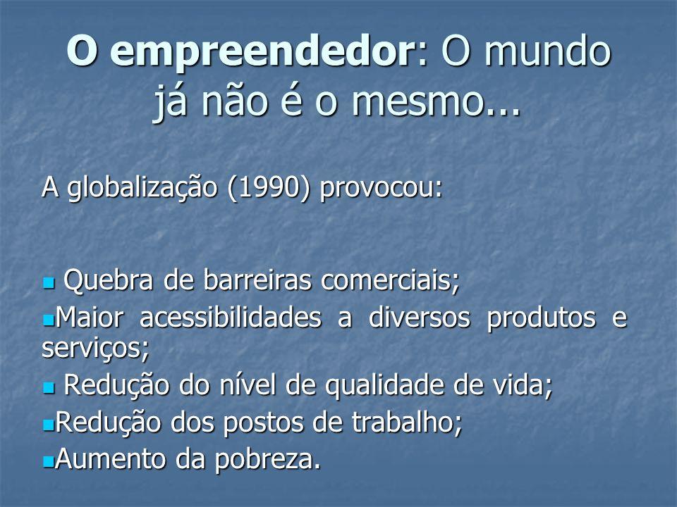 O empreendedor: O mundo já não é o mesmo...