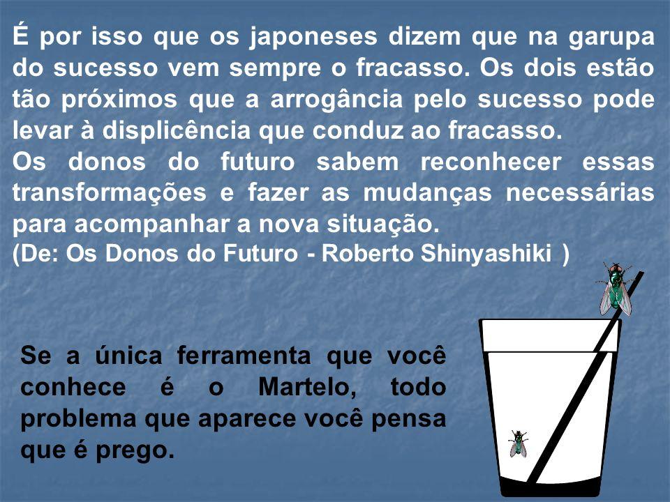 É por isso que os japoneses dizem que na garupa do sucesso vem sempre o fracasso.