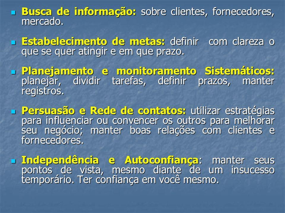 Busca de informação: sobre clientes, fornecedores, mercado.