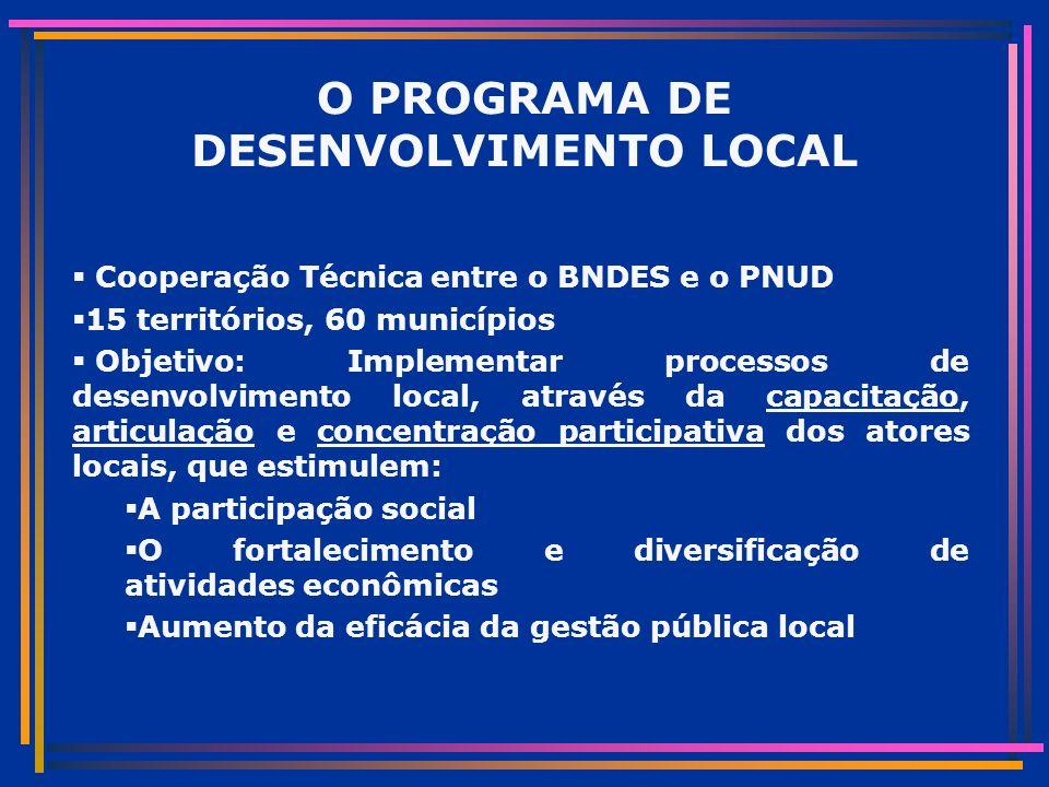 DIMENSÃO COMUNITÁRIA 36 Comunidades (700 famílias): de praticas reativas para visão de futuro e projeto conceitual CEAPAC (ONG) e equipe local sistematizam e retornam diagnostico integrado Rádio comunitário