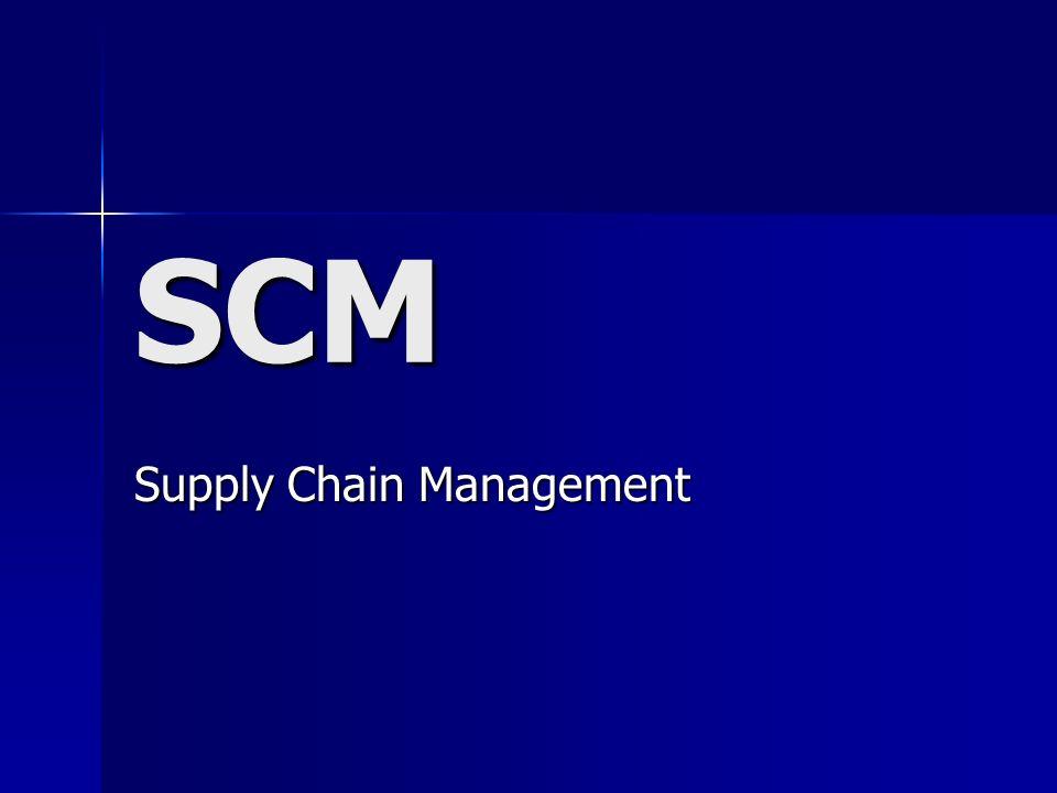 O que é SCM.