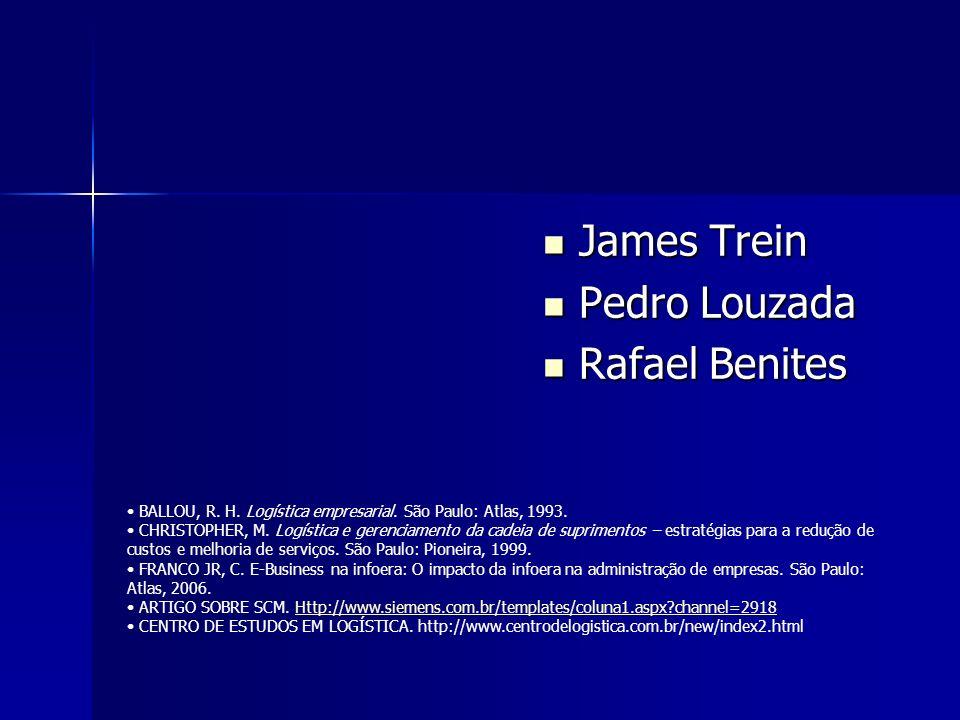 James Trein Pedro Louzada Rafael Benites BALLOU, R. H. Logística empresarial. São Paulo: Atlas, 1993. CHRISTOPHER, M. Logística e gerenciamento da cad