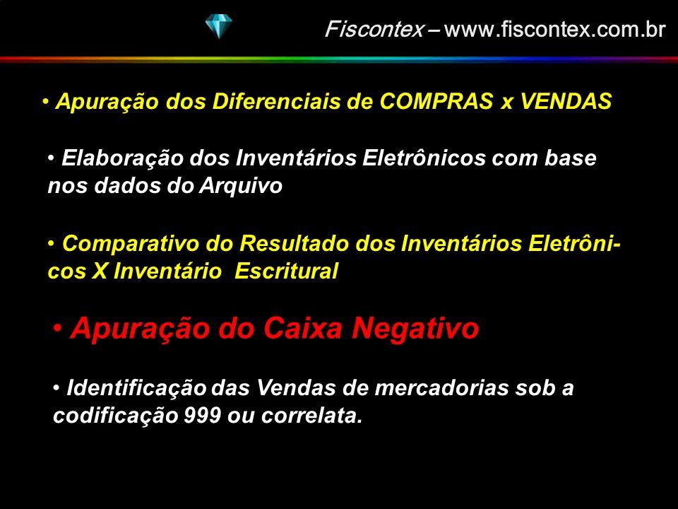 Fiscontex – www.fiscontex.com.br RESULTADOS DESSAS VERIFICAÇÕES E ANÁLISES