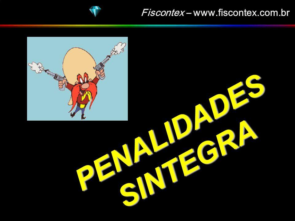 Fiscontex – www.fiscontex.com.br Quantificação das vendas 991 / 999 Identificação das mercadorias com Saídas sem as respectivas Entradas Glosa automática dos créditos aproveitados indevidamente.