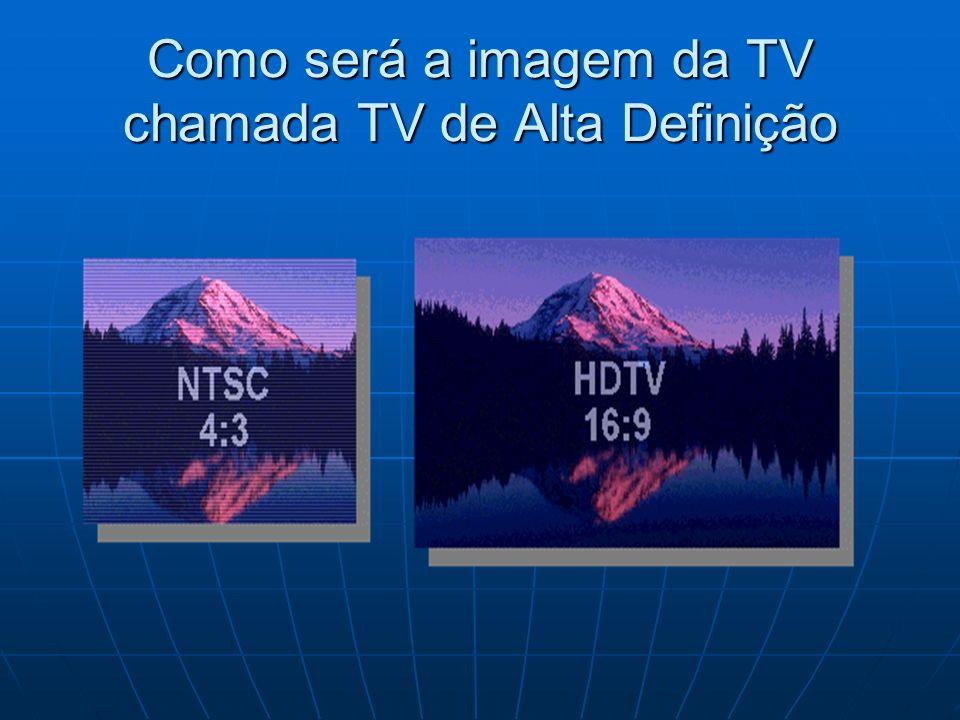 Como será a imagem da TV chamada TV de Alta Definição
