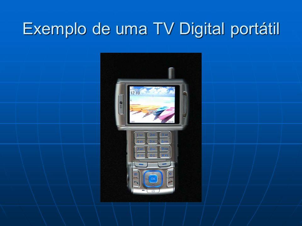 Exemplo de uma TV Digital portátil