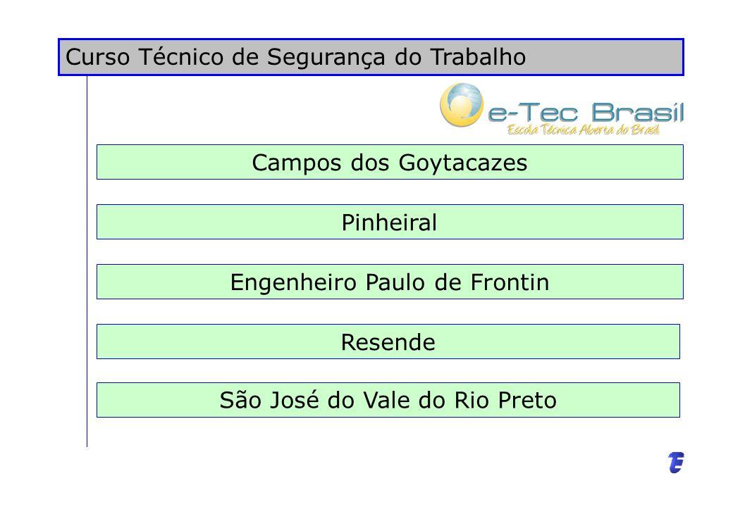 Curso de Educação Tecnológica – Pós-Graduação Lato Sensu Campo Grande Volta Redonda Macaé Rio Bonito Piraí Duque de Caxias Nova Iguaçu Angra dos Reis