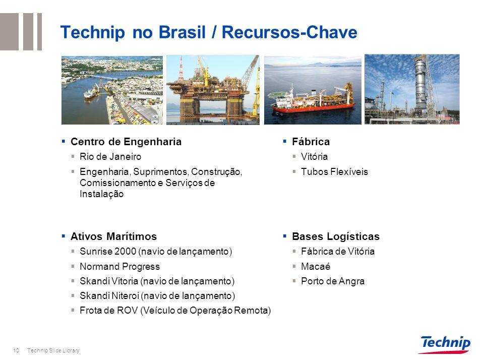 Technip Slide Library10 Technip no Brasil / Recursos-Chave Centro de Engenharia Rio de Janeiro Engenharia, Suprimentos, Construção, Comissionamento e