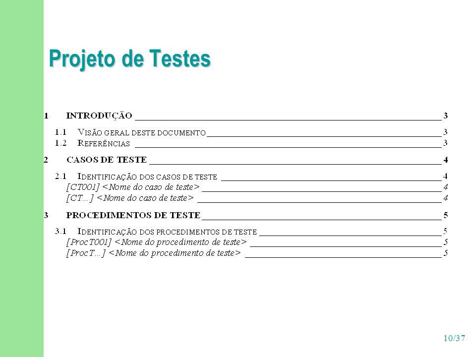 10/37 Projeto de Testes