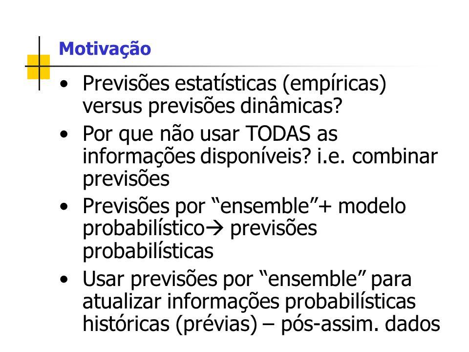 Previsões estatísticas (empíricas) versus previsões dinâmicas.