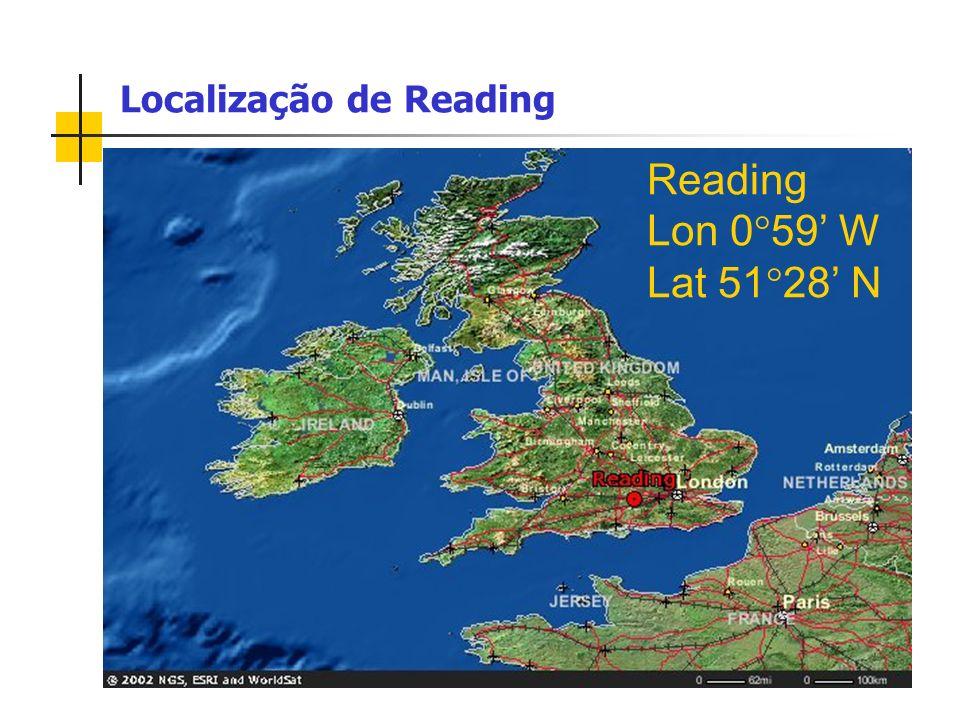 Localização de Reading Reading Lon 0 59 W Lat 51 28 N