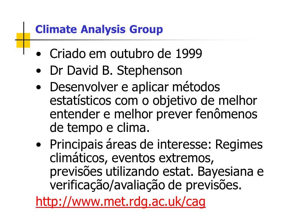 Criado em outubro de 1999 Dr David B.
