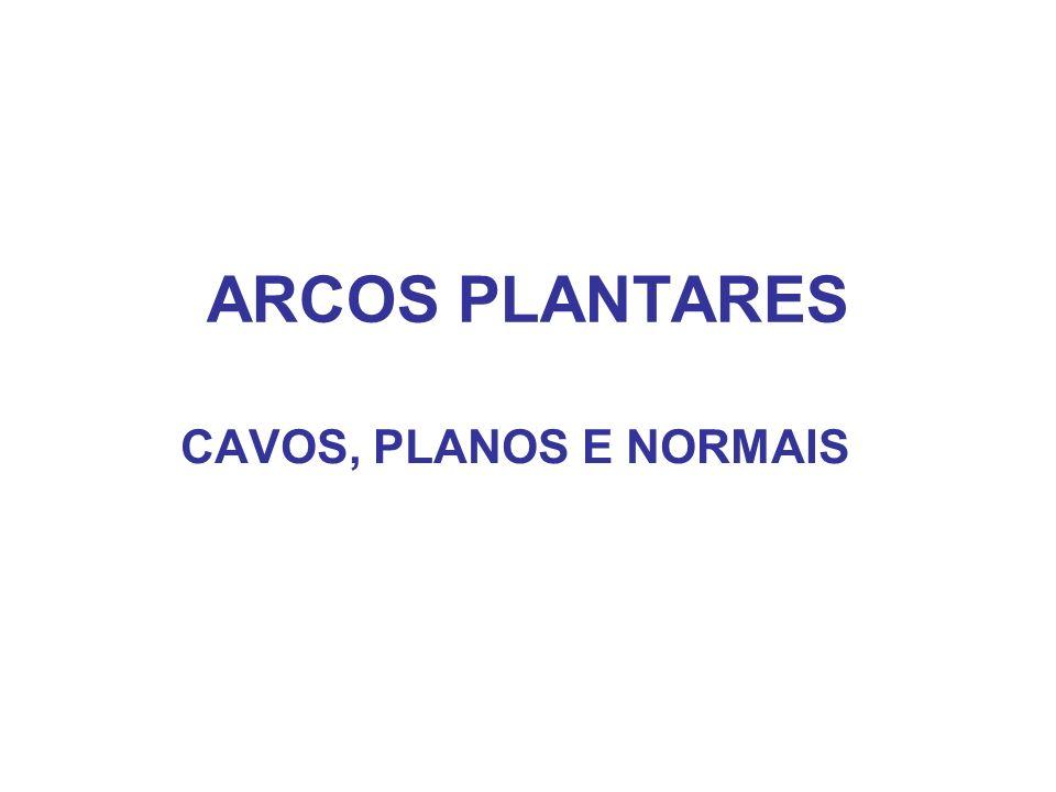 ARCOS PLANTARES CAVOS, PLANOS E NORMAIS