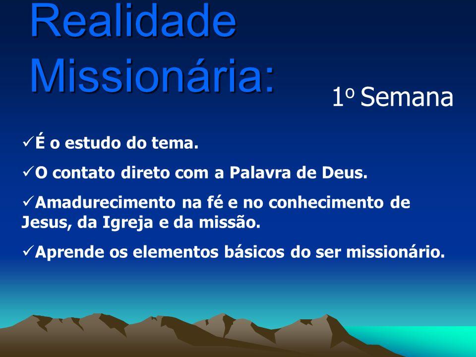 É o esforço de assimilar, viver e celebrar o que se aprendeu na realidade missionária.