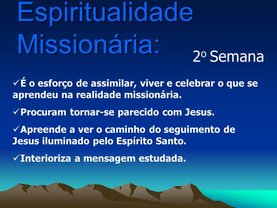 É o esforço de assimilar, viver e celebrar o que se aprendeu na realidade missionária. Procuram tornar-se parecido com Jesus. Apreende a ver o caminho