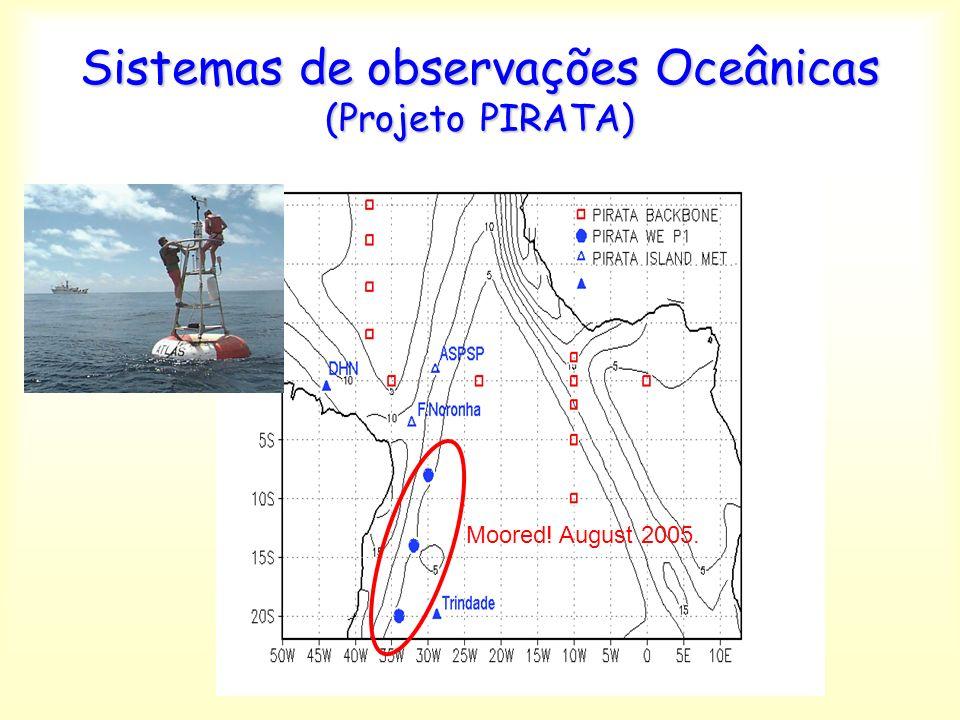 Moored! August 2005. Sistemas de observações Oceânicas (Projeto PIRATA)
