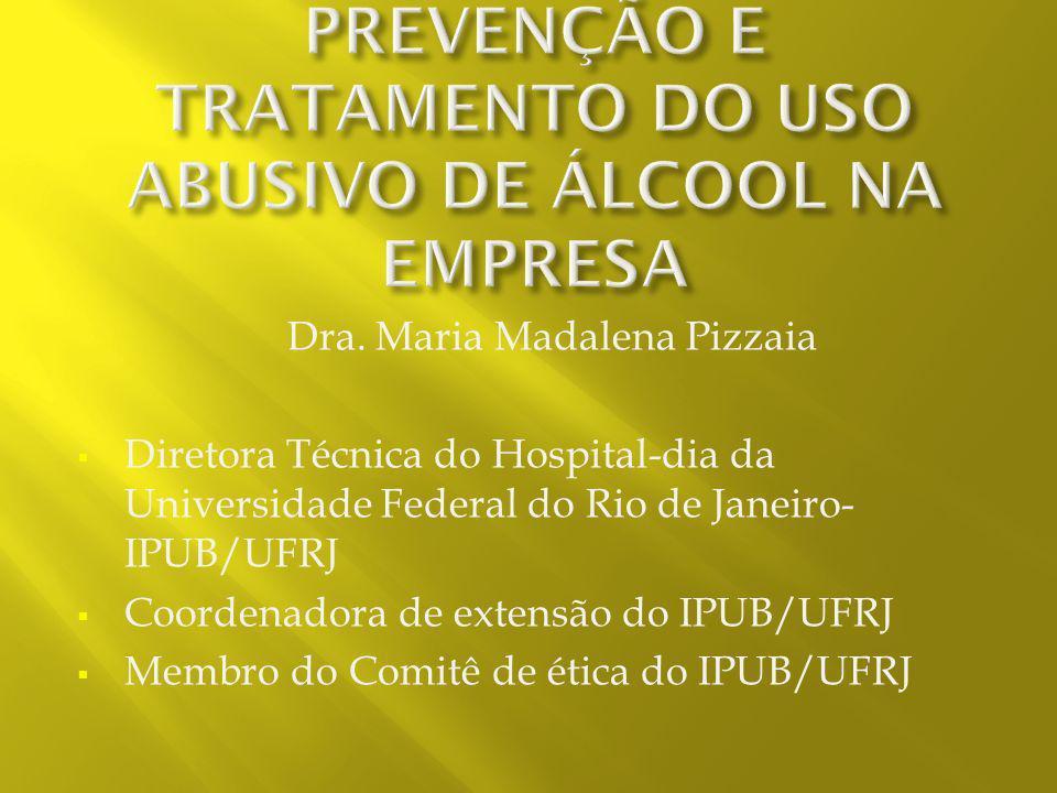CURSO SOBRE PREVENÇÃO DO USO DE ÀLCOOL E TABACO NA EMPRESA