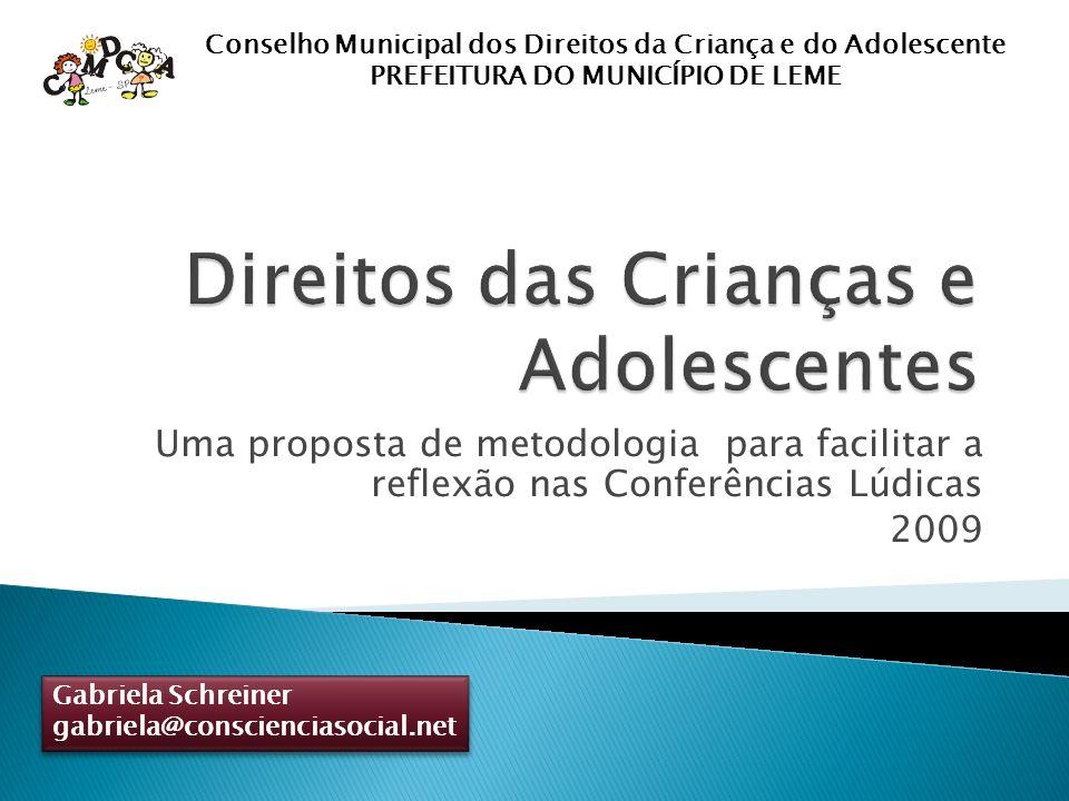Gabriela Schreiner, junho de 2009 Condições educacionais adequadas Merenda escolar em quantidade e qualidade adequadas a cada idade.