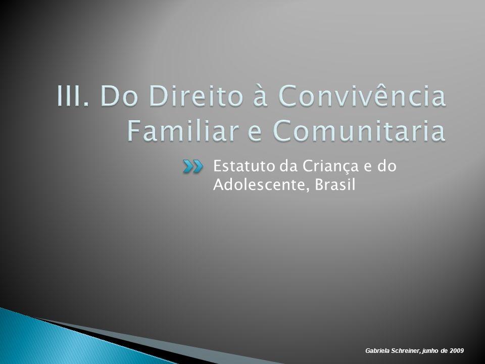Gabriela Schreiner, junho de 2009 Estatuto da Criança e do Adolescente, Brasil