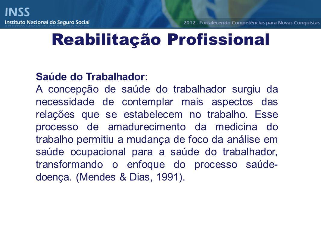 Saúde do Trabalhador: A concepção de saúde do trabalhador surgiu da necessidade de contemplar mais aspectos das relações que se estabelecem no trabalh