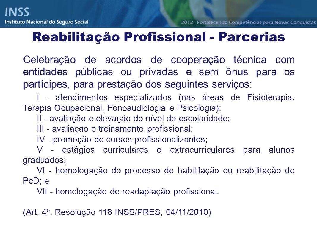 Celebração de acordos de cooperação técnica com entidades públicas ou privadas e sem ônus para os partícipes, para prestação dos seguintes serviços: I