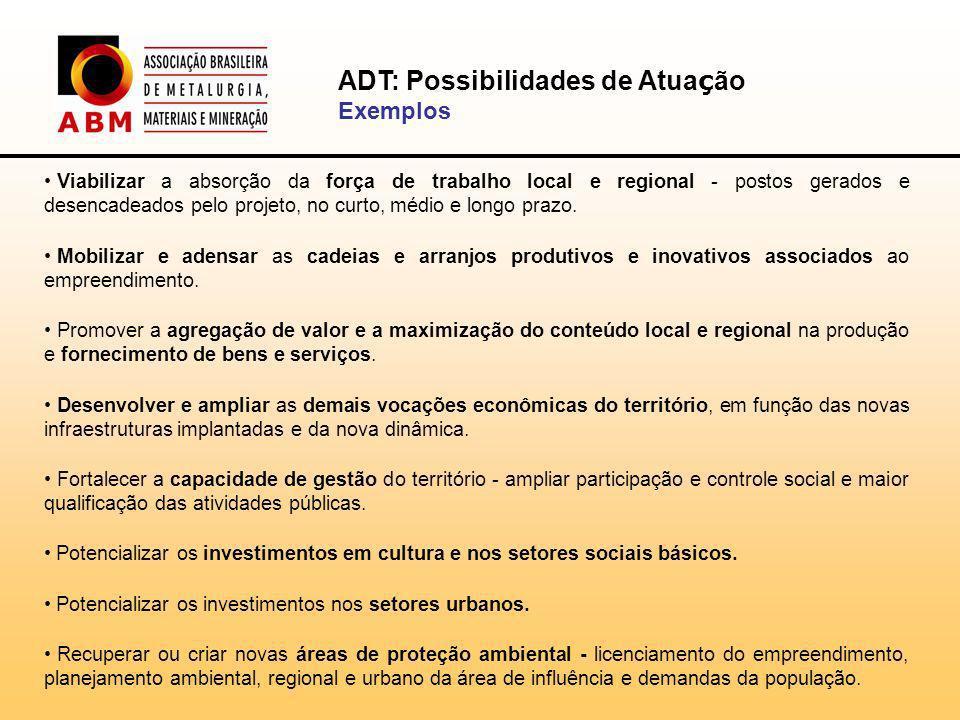 Viabilizar a absorção da força de trabalho local e regional - postos gerados e desencadeados pelo projeto, no curto, médio e longo prazo.
