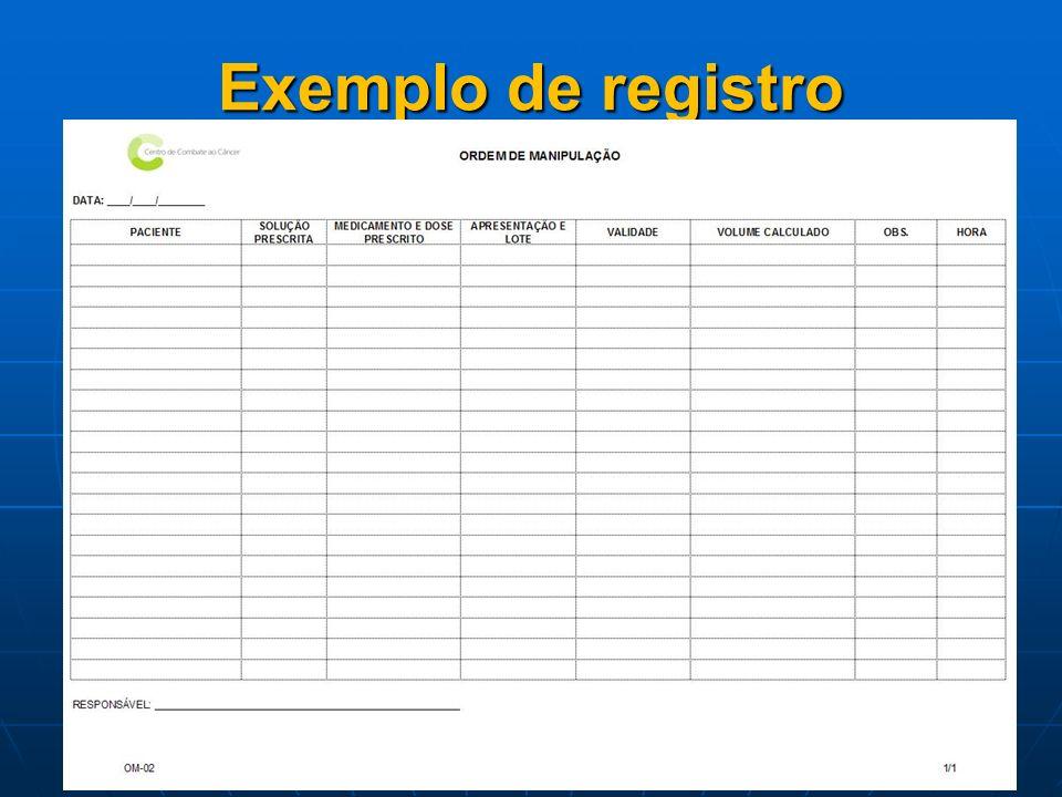 Exemplo de registro