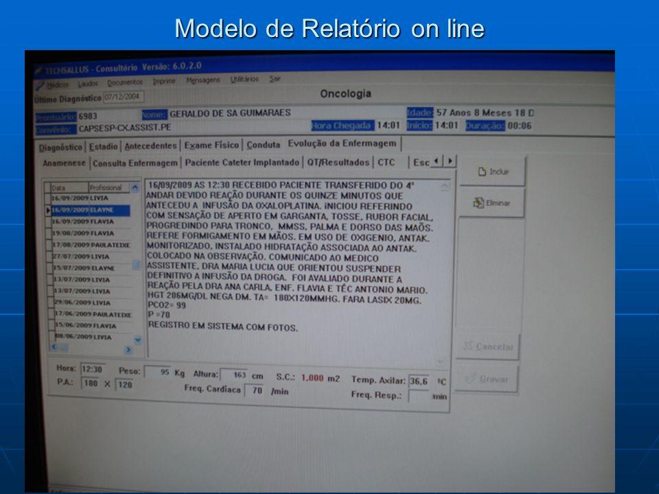 Modelo de Relatório on line