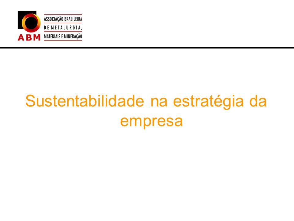 Sustentabilidade na estratégia da empresa