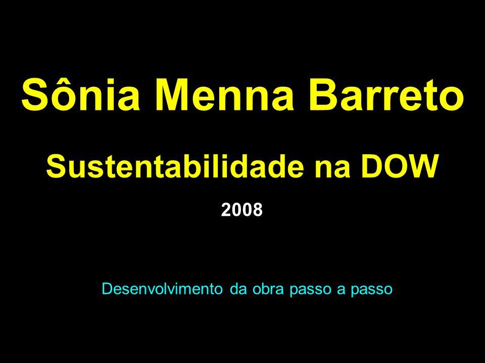 Sônia Menna Barreto Sustentabilidade na DOW Desenvolvimento da obra passo a passo 2008