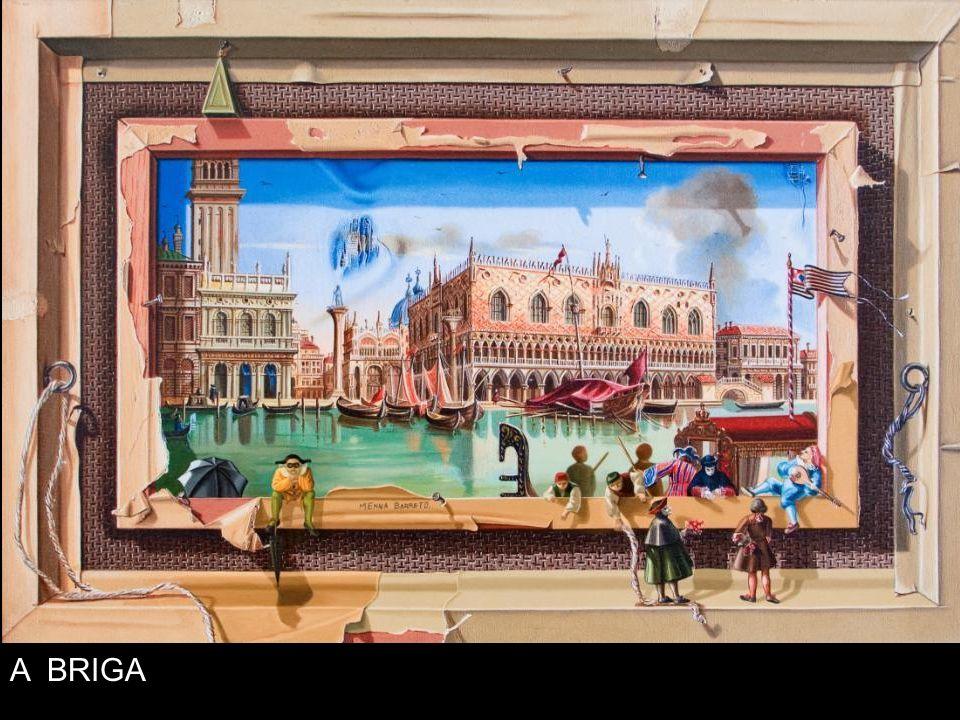 A exposição Sônia Menna Barreto Releitura, na sala oficial do Museu de Arte de Blumenau, apresenta uma coleção de obras em técnica mista sobre tela, r