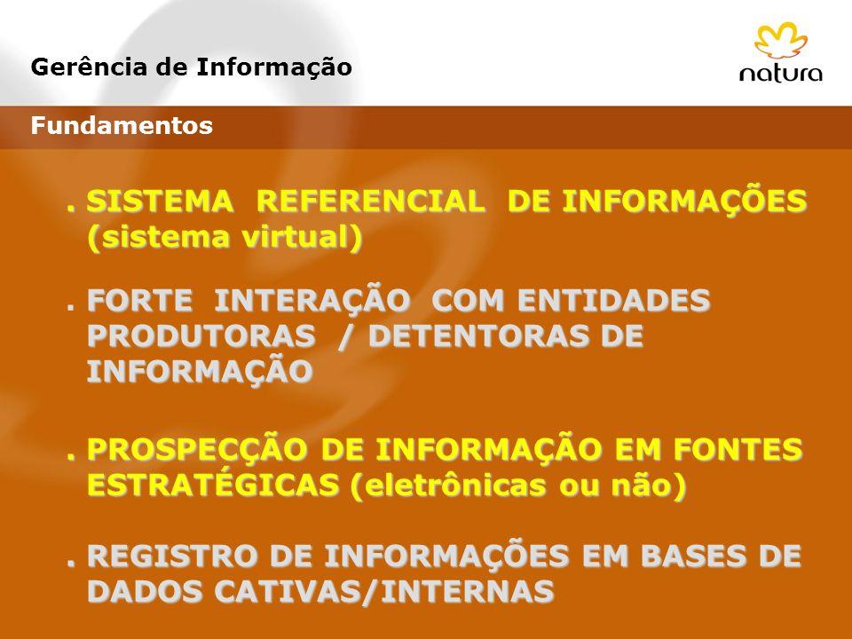 . SISTEMA REFERENCIAL DE INFORMAÇÕES (sistema virtual) (sistema virtual) FORTE INTERAÇÃO COM ENTIDADES. FORTE INTERAÇÃO COM ENTIDADES PRODUTORAS / DET
